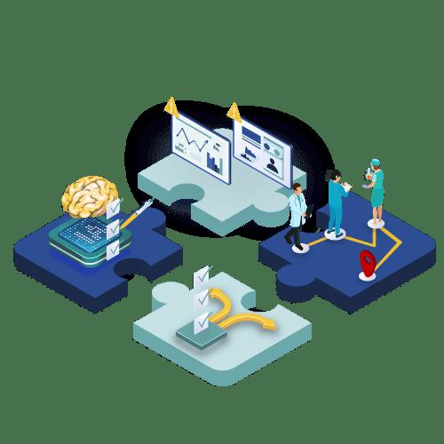 logo composants questionnaire intelligent télésuivi e-parcours et e-régulation