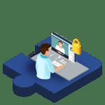 icone composant téléconsultation sécurisée