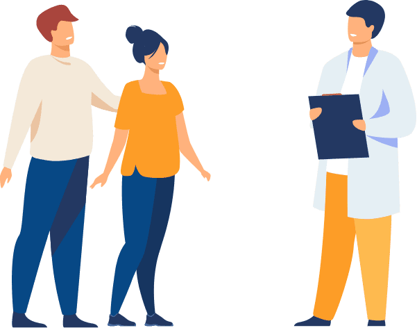 médecin qui discute avec ses patients